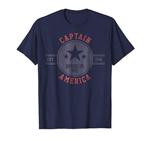 Marvel Captain America Vintage Est. 1941 Star Badge T-Shirt -