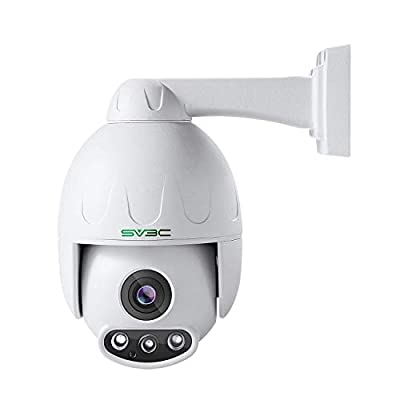 SV3C 1080P PTZ IP POE Camera Security Outdoor Pan Tilt Zoom (Optical 4X Motorized) Speed Dome, ProHD 165FT Night Vision with Sony CMOS Sensor, H.265 Onvif Motion Detection from SV3C Technology