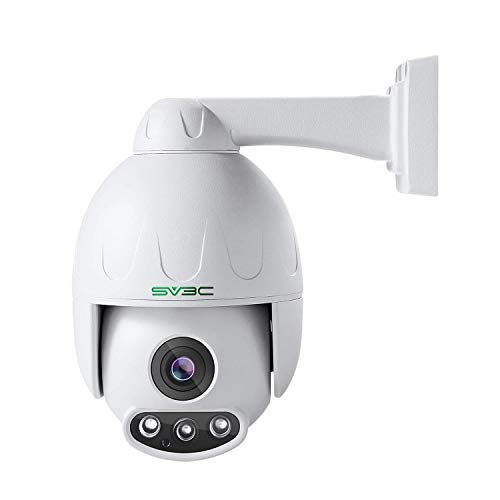 SV3C 1080P PTZ IP POE Camera Security Outdoor Pan Tilt Zoom (4xOptical Zoom) Speed Dome, ProHD 165FT Night Vision with Sony CMOS Sensor, H.265 Onvif Motion Detection