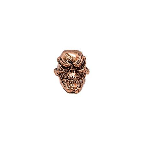 Schmuckatelli Co. Grins Antique Copper Finish Pewter Skull Bead 3/16