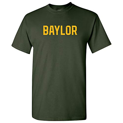 (AS01 - Baylor Bears Basic Block T-Shirt - Medium - Forest )