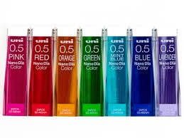 Uni Nanodia 140 Minas 7 Colores 0.5mm Japonesas