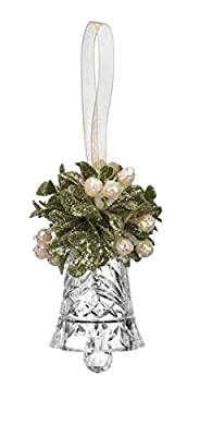 "GANZ 3"" Kyrstal Kiss Ball Ornament, Teeny Crystal Bell, Clear - Wedding Acrylic Kissing Crystal-like KK93"