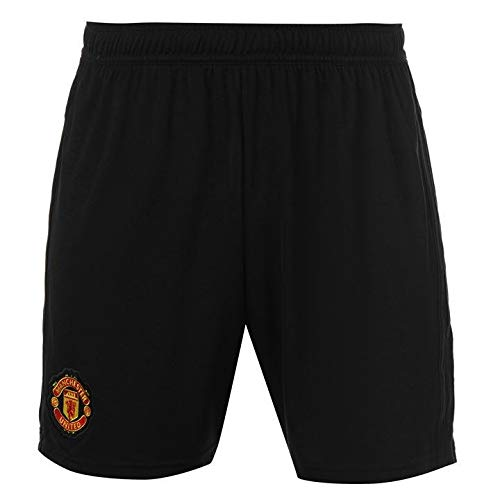adidas Manchester United FC Official 2018/19 Home Shorts - Adult - Black - ()