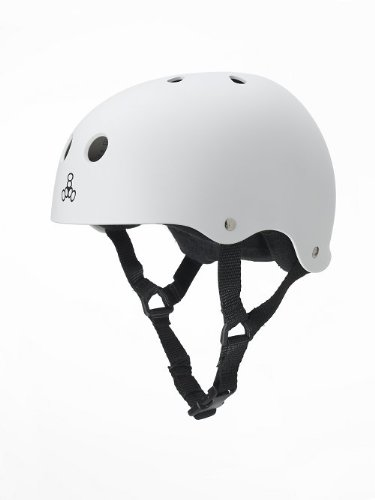 Triple ciclismo Brainsaver White da 8 Casco BqfpB1R