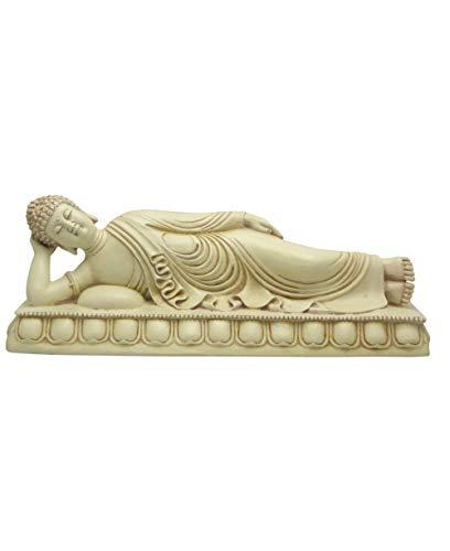 (Reclining Buddha Statue in Stone Finish)
