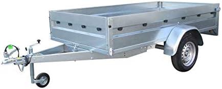 ERKA Remolque Coche Acero galvanizado de 2,00x1,34m con Tablero Madera. Carga útil 583kg. MMA 750kg