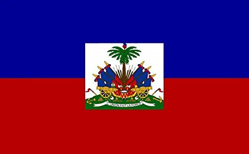 Haiti State Flag 5ft x 3ft Large - 100% Polyester - Metal Ey