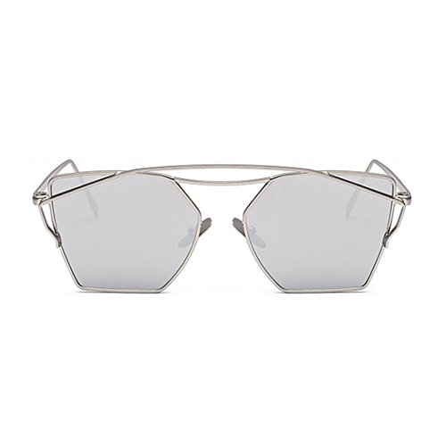 Fashion Cateye Classic Sunglasses for Womens and Mens Flash Mirror - Korean Monster Brand Sunglasses