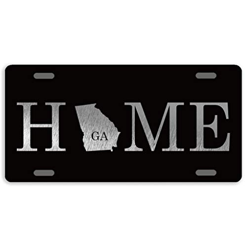 Eprocase 50 Home State License Plate Cover Novelty Tag Aluminum Car Plate Decorative Car Tag Sign Metal Auto Tag Front License Plate 4 Holes (12