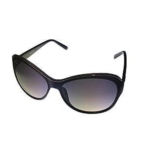 Kenneth Cole Reaction Oversized Cat Eye Black Plastic Sunglass KC1234 1B