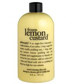 philosophy - frozen lemon custard - award winning ultra rich shampoo, shower gel & bubble bath