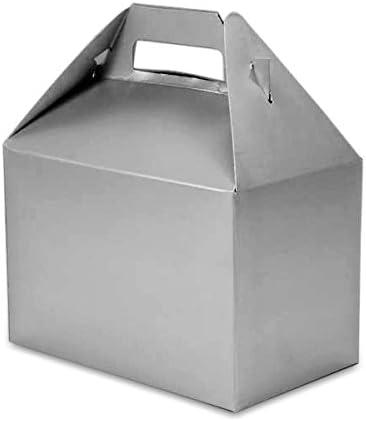 10 Width 4 7//8 Platinum Silver Gable Gift Box 8 X 4-7//8 X 5 1//4 Quantity