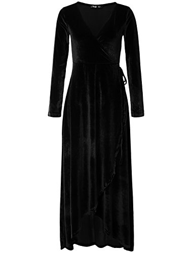 black velvet dance dress - 7