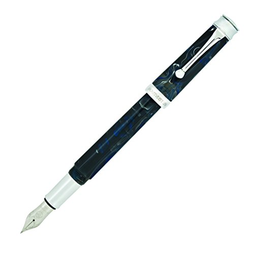 MONTEVERDE USA Essenza Black Ink Fountain Pen, Broad Nib, Storm Clouds (MV42530: MV42531) ()
