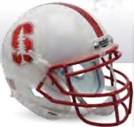NCAA Stanford Cardinal Unisex NCAA Stanford Cardinal Replica XP Football Helmetncaa Stanford Cardinal Replica XP Football Helmet, White Alt, One Size