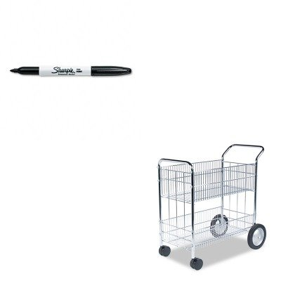 KITFEL40912SAN30001 - Value Kit - Fellowes Wire Mail Cart (FEL40912) and Sharpie Permanent Marker (SAN30001) by Fellowes