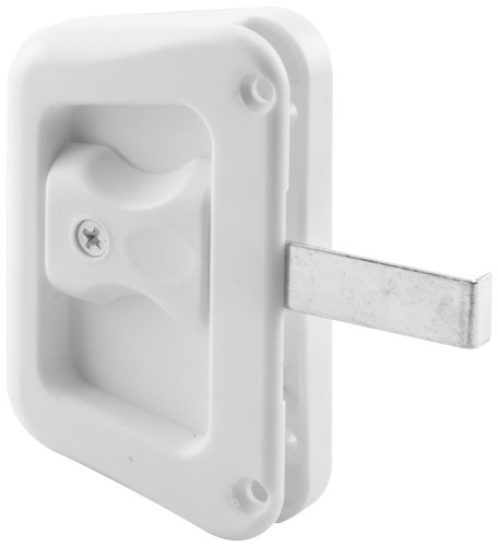 (Prime-Line Products A 228 Sliding Screen Door Latch with Screws, White, 1-Pack)