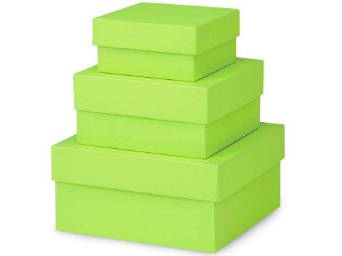 (Nashville Wraps Nested Gift Boxes 3 Piece Set - Square - Small - Citrus Serenade)