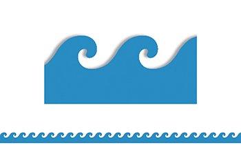 Flip Flop Border - Blue Waves Mighty Brights Border