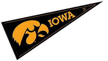 NCAA University of Iowa WCR63910971 Carded Classic Pennant, 12
