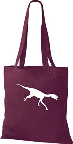 Krokodil - Bolso de tela de algodón para mujer Rojo - borgoña