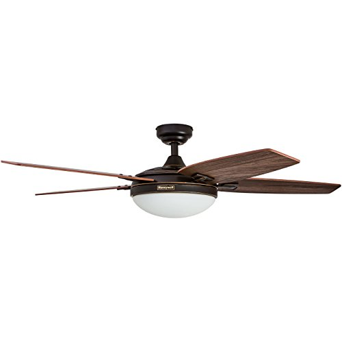 Honeywell Duvall 52-Inch Tropical Ceiling Fan, Five Wet Rated Wicker Blades, Indoor/Outdoor, White by Honeywell Ceiling Fans (Image #9)