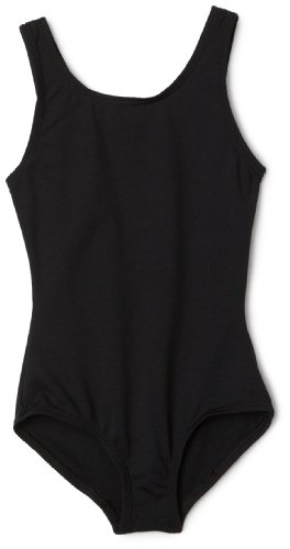 Capezio Little Girls' Team Basic Tank Leotard,Black,I ( 6-8) -