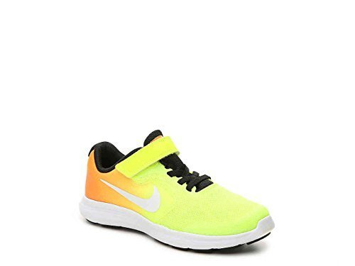 NIKE Kids' Revolution 3 (Psv) Running-Shoes, Tart/White/Volt/Black, 11 M US Little Kid