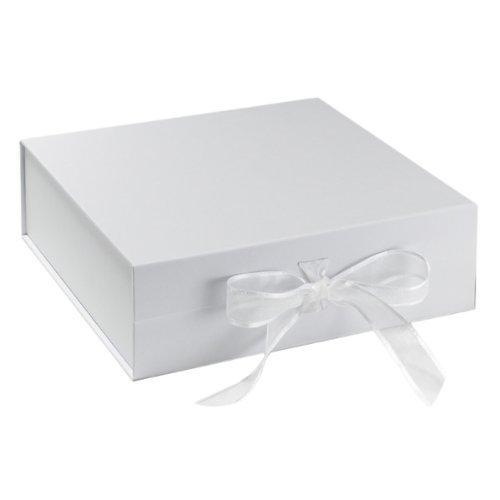 BabywearUK Keepsake Box - White box with bow (Essentials) Bab-5309