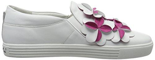 Kennel und Schmenger Schuhmanufaktur Town, Sneakers Basses Femme Mehrfarbig (bianco/pink Sohle Weiss)