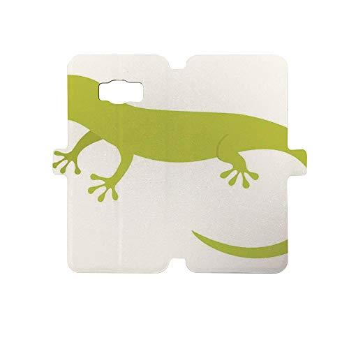 Painted Galaxy S8 Case - Premium Protective Cover Phone Cases for Girls,Reptiles,Cute Australian Lizard Illustration Smiling Kids Mascot Safari Theme Symbol Home,Pistachio -