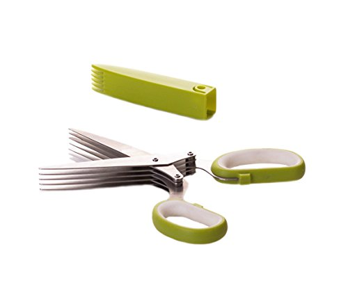 Select Culinary 5-Blade Herb Scissors Cutter-Stainless Steel Multi Blade Shears 1 The herb scissors five sharp blades are manufactured using the finest quality stainless steel User friendly, easy to use herb shears are way easier Total time saver-chop a variety of herbs such as scallions, chives, parsley and thyme