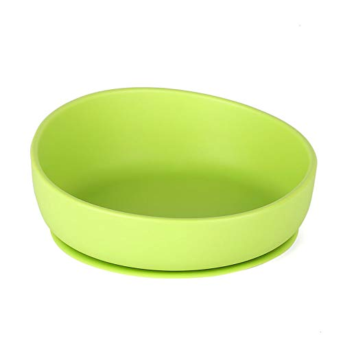 FDA Certificated iKiKin Silicone Bowl for Toddlers Silicone Bowl with Suction Non-Slip BPA Free Microwave and Dishwasher Safe Baby Light Pink