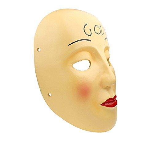 Gmasking 2017 The Purge Anarchy James Sandin God Mask Replica+Gmask Keychain (The Purge Mask Replica)