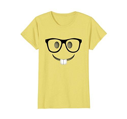 Womens Nerd Emoji Halloween Costume Shirt Adults Group T-Shirt XL - Halloween Costumes Nerd Female