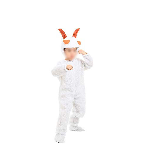 Halloween Cosplay Jumpsuit Red Wolf Little Gray Ash Parents Dress Stage,Pleasant Goat,100cm -