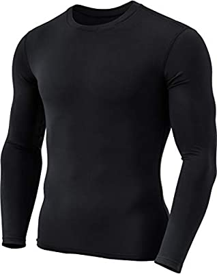 TSLA Men's Thermal Wintergear Compression Baselayer Long Sleeve Tops
