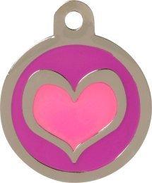 HUI Etiqueta de identificación Personalizable con Forma de corazón de Color Rosa y Morado: Amazon.es: Productos para mascotas