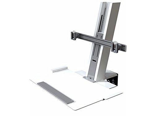Humanscale QSWC30 Monitorhalterung, Metall, weiß, 710 x 430 x 58,50 cm