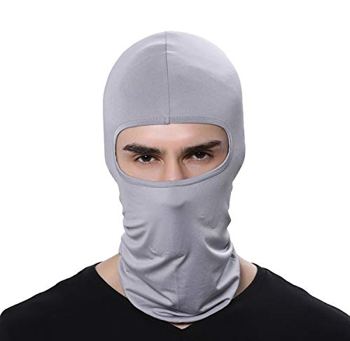 GAMWAY Ski Mask Balaclava Hood Skullies Beanies Outdoor Sports Cycling Hat (LightGray)