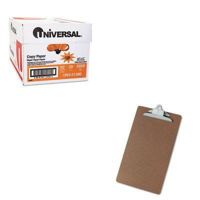 KITUNV21200UNV40305 - Value Kit - Hardboard Clipboard, Legal Size, Brown (UNV40305) and Universal Copy Paper (UNV21200)