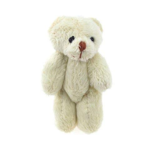 """Homeford Firefly Imports Miniature Jointed Ivory Teddy Bear, 3-Inch, 3-Pack, 3"""" from Homeford"""