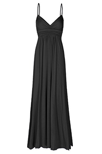 Beachcoco Women's Sweetheart Maxi Dress (XL, Black) (Dresses With Hearts For Women)