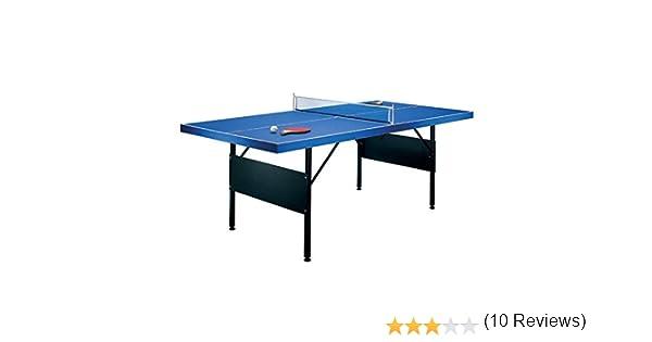 Mesa de ping-pong plegable 183x71x91cm incluye 2 palas: Amazon.es ...