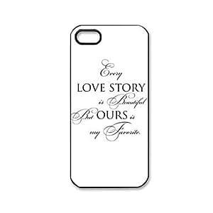HC-Las cotizaciones del amor Patrón de plástico duro caso para iPhone 5/5S