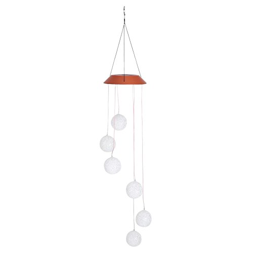 GLOGLOW Solar Powered Wind Chimes, Changing Color Automatic Light Sensor Hanging Lamp Mobile Wind Chime Windbell for Outdoor Indoor Gardening Home Party Decorations by GLOGLOW
