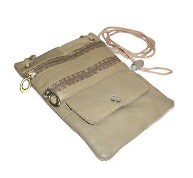 Leather Handbag Avenue (New Genuine Leather Travel Purse General Purpose Shoulder Cream Bag)