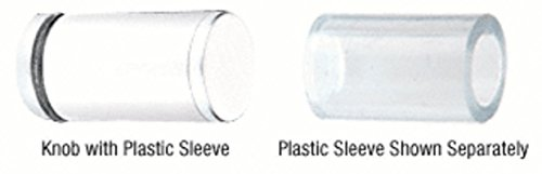 C.R. LAURENCE SDKP212W CRL White Cylinder Style Single-Sided Shower Door Knob With Plastic - Laurence Cr Shower