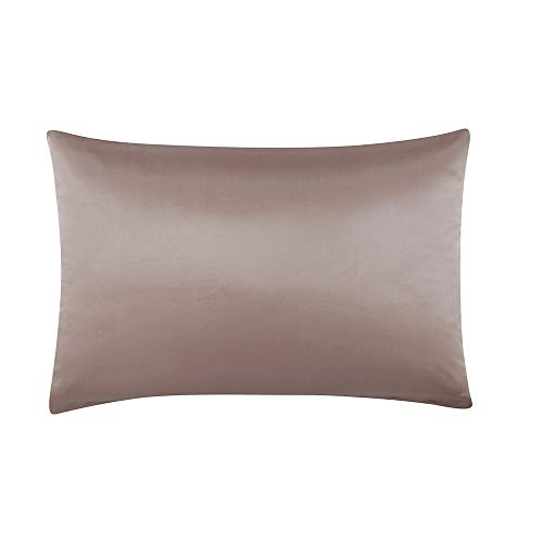 S·789 Chameuse Silk Pillowcase with Hidden Zipper Window,Luxury Satin Silk Pillow Sham,Both Sides 19 Momme Silk,20x36 Inches,Silver Grey Color Oganic Pillowcase with Gift Package by S·789 (Image #6)